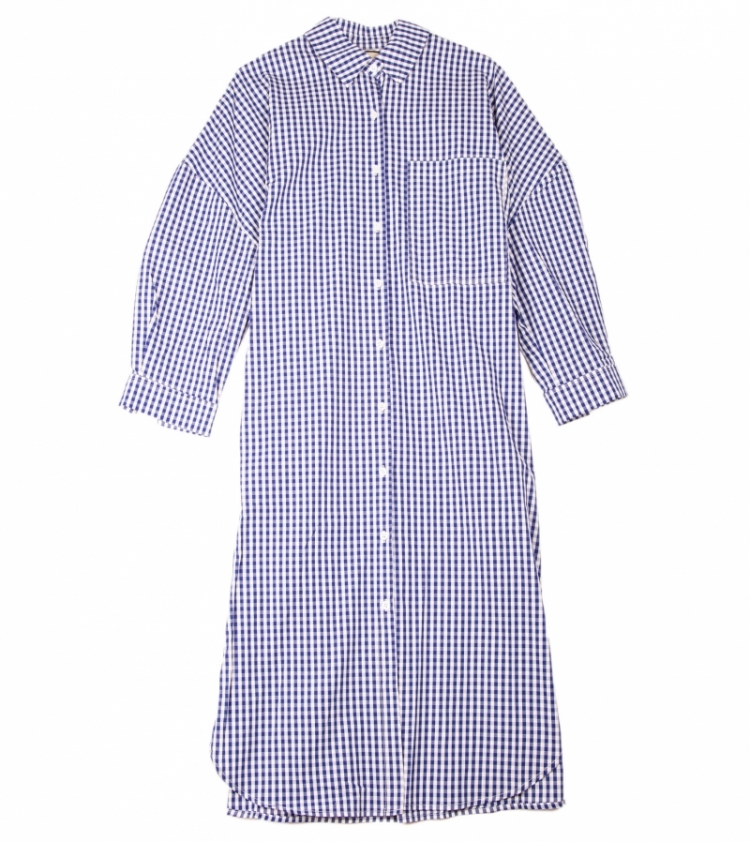SARA CHEQUERED DRESS logo