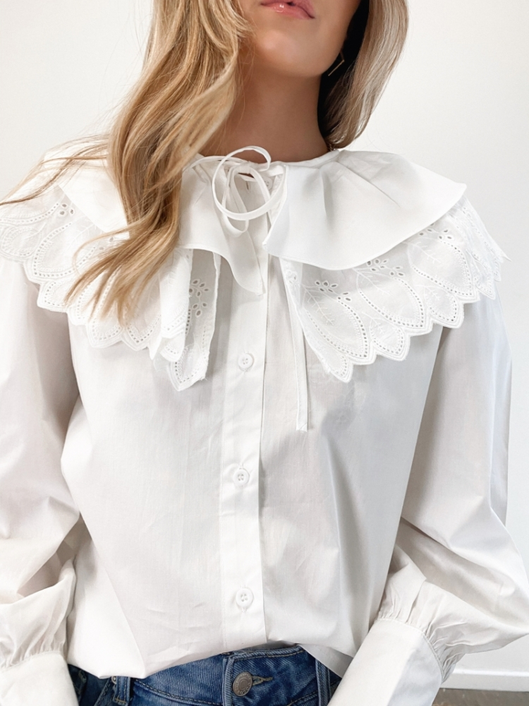 MAGALIE BLOUSE OFF WHITE logo