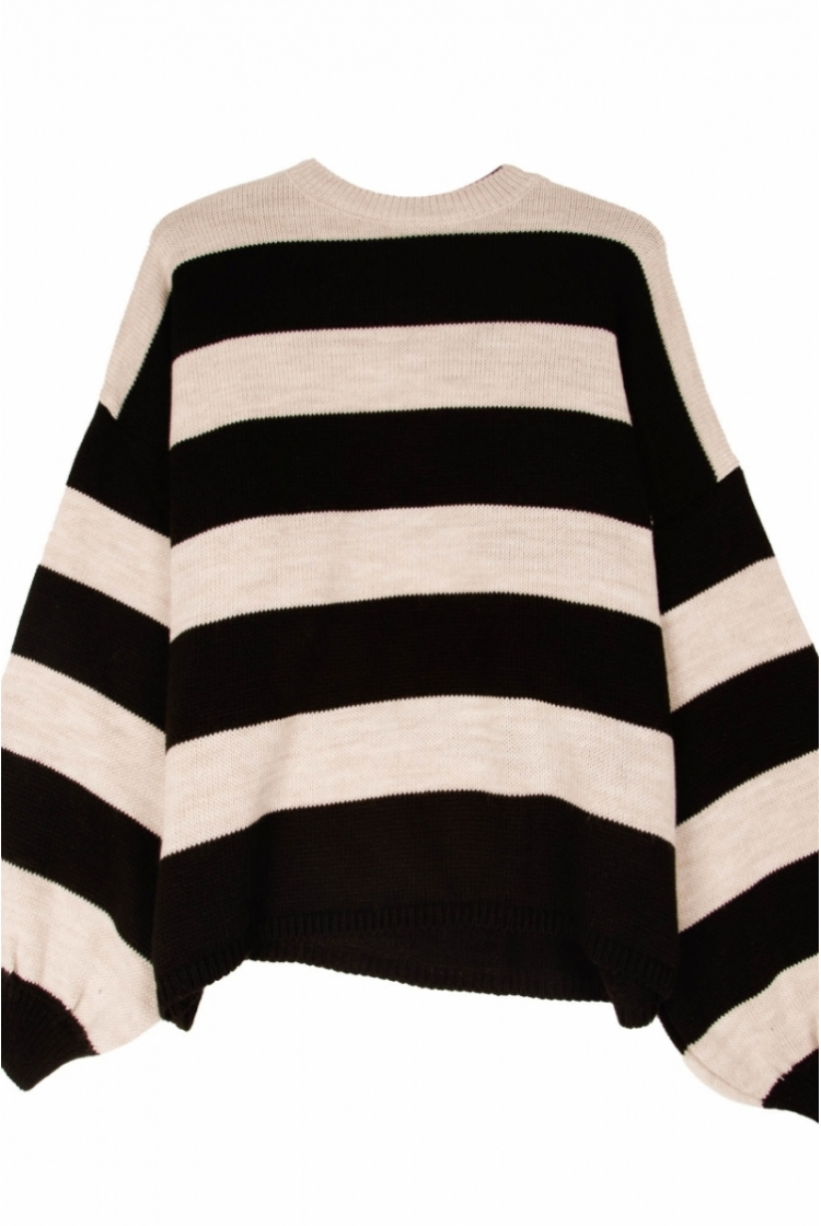 SINA STRIPED KNIT logo