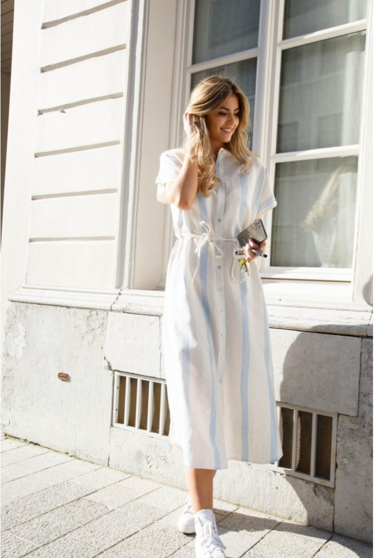 SORAYA LONG DRESS BLUE -
