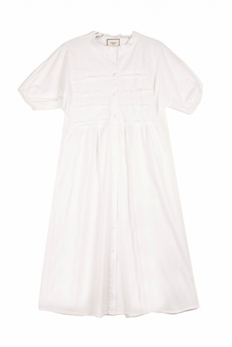 ANNA BRAIDED DRESS WHITE