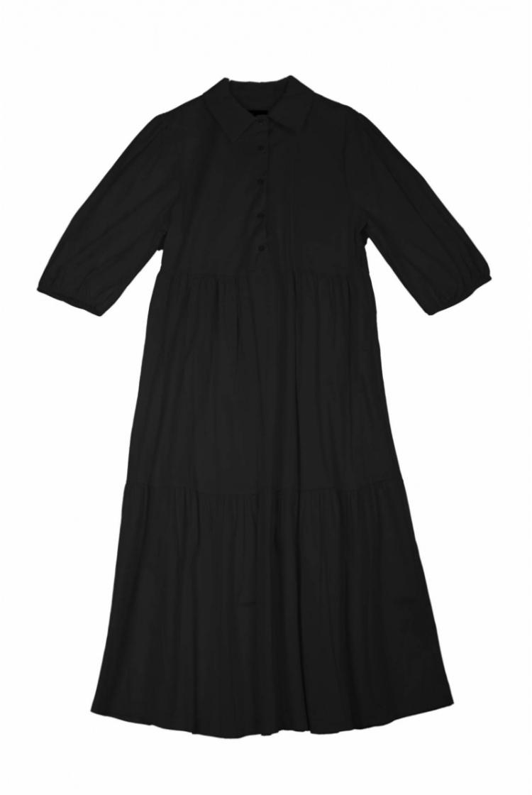 CELIA COTTON DRESS BLACK