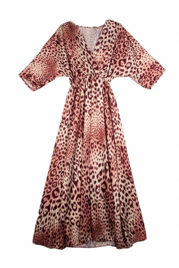 LENA PRINTED LEOPARD DRESS logo